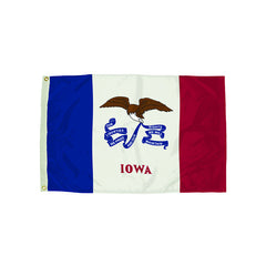 3X5 NYLON IOWA FLAG HEADING & - Honor Roll Childcare Supply