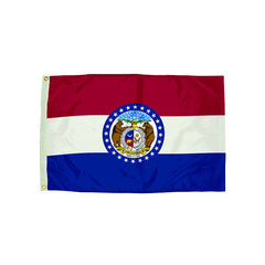 3X5 NYLON MISSOURI FLAG HEADING & - Honor Roll Childcare Supply