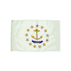 3X5 NYLON RHODE ISLAND FLAG HEADING - Honor Roll Childcare Supply