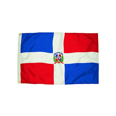 3X5 NYLON DOMINICAN REPUBLIC FLAG - Honor Roll Childcare Supply