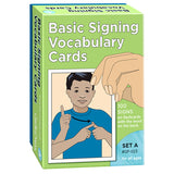 BASIC SIGNING VOCAB CARDS SET A - Honor Roll Childcare Supply