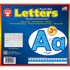 3IN PUNCH OUT LETTERS WATER - Honor Roll Childcare Supply