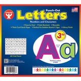 3IN PUNCH OUT LETTERS RAINBOW - Honor Roll Childcare Supply