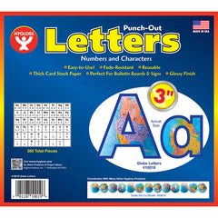 3IN PUNCH OUT LETTERS GLOBES - Honor Roll Childcare Supply