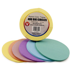 5 IN TISSUE CIRCLES PASTEL 480 PCS - Honor Roll Childcare Supply