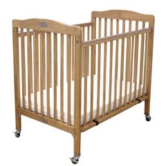 L.A. Baby The Pocket Crib-Mini/Portable Folding Wood Crib-Natural - Honor Roll Childcare Supply