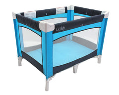 """L.A. Baby"" PLAY YARD - NAVY/TURQUOISE - Honor Roll Childcare Supply"