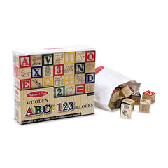 WOODEN ABC/123 BLOCKS - Honor Roll Childcare Supply