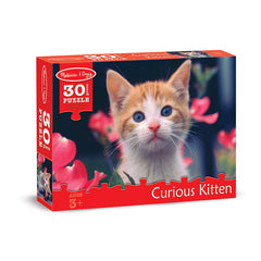 30 PC CURIOUS KITTEN CARDBOARD - Honor Roll Childcare Supply