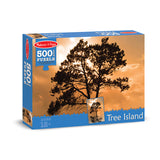 500 PC TREE ISLAND CARDBOARD JIGSAW - Honor Roll Childcare Supply