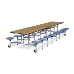 "16 Stool 15""hx27""hx12'L Mobile Tables - Honor Roll Childcare Supply"