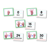 AMERICAN SIGN LANGUAGE CARDS NUMBER - Honor Roll Childcare Supply