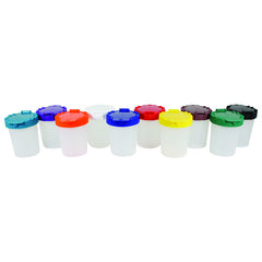 10CT NO SPILL PAINT CUP ASSORTMENT - Honor Roll Childcare Supply