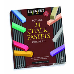 24CT ASSORTED COLOR ARTISTS CHALK - Honor Roll Childcare Supply