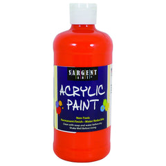 16OZ ACRYLIC PAINT - ORANGE - Honor Roll Childcare Supply