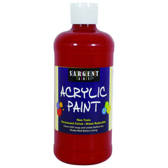 16OZ ACRYLIC PAINT - RED - Honor Roll Childcare Supply