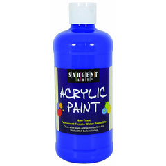 16OZ ACRYLIC PAINT - BLUE - Honor Roll Childcare Supply