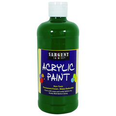 16OZ ACRYLIC PAINT - GREEN - Honor Roll Childcare Supply