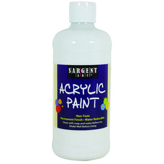 16OZ ACRYLIC PAINT - WHITE - Honor Roll Childcare Supply