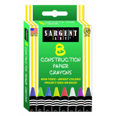 8CT CONSTRUCTION PAPER CRAYON - Honor Roll Childcare Supply