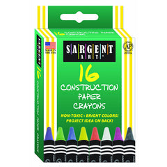 16CT CONSTRUCTION PAPER CRAYON - Honor Roll Childcare Supply