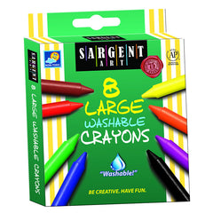 8CT WASHABLE LARGE CRAYON - Honor Roll Childcare Supply