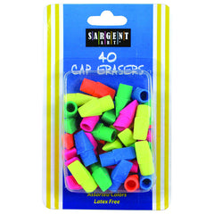 40CT ASSORTED COLOR CAP ERASER - Honor Roll Childcare Supply