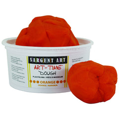 1LB ART TIME DOUGH - ORANGE - Honor Roll Childcare Supply