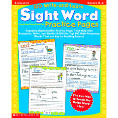 100 WRITE AND LEARN SIGHT WORD - Honor Roll Childcare Supply