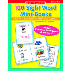 100 SIGHT WORD MINI-BOOKS - Honor Roll Childcare Supply