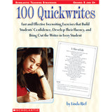100 QUICKWRITES - Honor Roll Childcare Supply