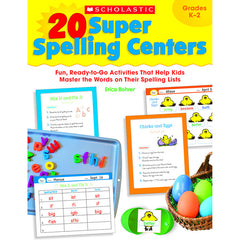 20 SUPER SPELLING CENTERS - Honor Roll Childcare Supply