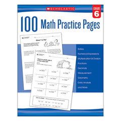 105 MATH PRACTICE PAGES GR 6 - Honor Roll Childcare Supply