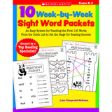 10 WEEK BY WEEK SIGHT WORD PACKETS - Honor Roll Childcare Supply