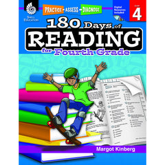 180 DAYS OF READING BOOK FOR FOURTH - Honor Roll Childcare Supply