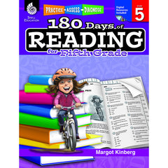 180 DAYS OF READING BOOK FOR FIFTH - Honor Roll Childcare Supply