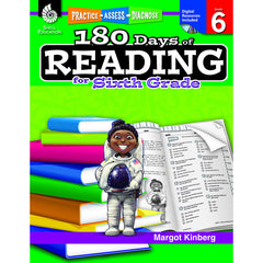 180 DAYS OF READING BOOK FOR SIXTH - Honor Roll Childcare Supply