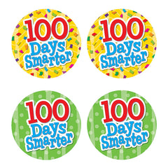 100 DAYS SMARTER WEAR EM BADGES - Honor Roll Childcare Supply