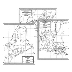 50 STATE OUTLINE MAP SET LAMINATED - Honor Roll Childcare Supply
