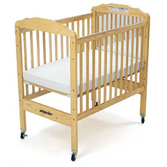 Angeles Clear Panel, Adjustable Fixed-Side Crib - Honor Roll Childcare Supply
