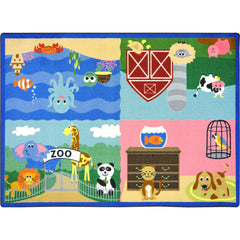 Animals All Around™ Rugs - Honor Roll Childcare Supply