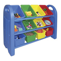 3 Tier Storage Organizer With Bins - Honor Roll Childcare Supply