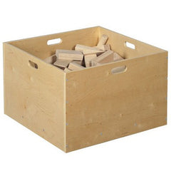 4 Sided Wooden Block Tub - Honor Roll Childcare Supply