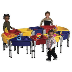 10 Station Sand & Water Play Table with Lids - Honor Roll Childcare Supply