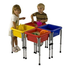 4 Station Square Sand & Water Play Table with Lids - Honor Roll Childcare Supply