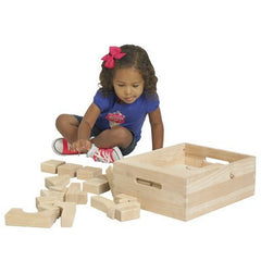 Solid Hardwood Building Block Set - 64 Pc. - Honor Roll Childcare Supply