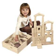 48 Pc. Architectural Blocks with Carry Case - Honor Roll Childcare Supply