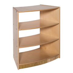 "30"" High Three-Shelf Curved, Open Storage - Honor Roll Childcare Supply"