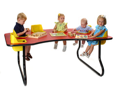 Toddler Tables - 6 Seat Toddler Feeding Table - Honor Roll Childcare Supply