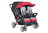 FREE SHIPPING - 4 Passenger Sport™ Splash Quad Strollers - Red - Honor Roll Childcare Supply